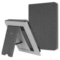 Fintie Stand Case for All-New Kindle (10th Generation, 2019) / Kindle (8th Generation, 2016) - Premium PU Leather Protective Sleeve Cover with Card Slot and Hand Strap, Gray