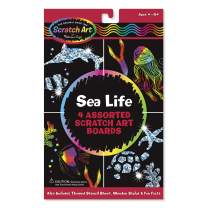 Melissa & Doug Scratch Art Activity Kit - Sea Life (Great Gift for Girls and Boys - Best for 4, 5, 6, 7, 8 Year Olds and Up)