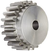 "Boston Gear NL15B Spur Gear, 14.5 Pressure Angle, Steel, Inch, 4 Pitch, 1.125"" Bore, 4.250"" OD, 2.000"" Face Width, 15 Teeth"