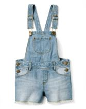 Gymboree Girls' Little Denim Cutoff Overall