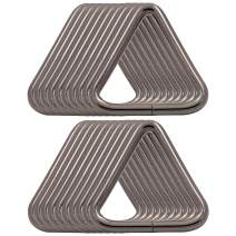 BIKICOCO 1-1/4'' Metal Triangle Ring Buckle Connectors Non Welded Round Edge Webbing Bag Clasp Handbag Strap Making Hardware, Gunmetal - Pack of 20
