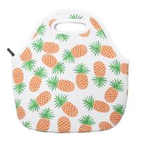 Aiphamy Pineapple Neoprene Lunch Bag Insulated Lunch Box Tote for Women Men Adult Kids Teens Boys Teenage Girls Toddlers, White