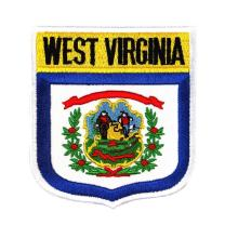 State Flag Shield West Virginia Patch Badge Travel Embroidered Iron On Applique