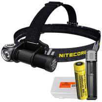 NITECORE UT32 1100 Lumens LED Cool White & Warm White Trail Running Headlamp with 3400mAh Battery and Charger, and LumenTac Battery Case