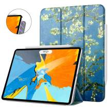 "MoKo Magnetic Smart Folio Case Fit iPad Pro 11"" 2018 - [Support Pencil Magnetically Attach Charge/Pair] Slim Lightweight Shell Stand Cover, Auto Wake/Sleep for iPad Pro 11 Inch - Almond Blossom"