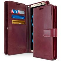 Goospery Mansoor Wallet for Samsung Galaxy S8 Case (2017) Double Sided Card Holder Flip Cover (Wine) S8-Man-WNE