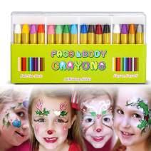 Face Paint Crayon Face Painting Kit for Kids,16 Color Easter Face and Body Crayons Safe & Non Toxic Washable Face Paint Halloween Cosplay Festival Makeup Body Paint for Toddler, Children, Adult,Teen