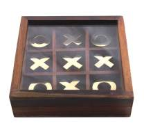 Authentic Vintage Wooden Tic Tac Toe/ Noughts and Crosses Game Unique Handmade Wood Family Board Games Indoor