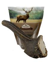 WhiteTail Naturals | Large Premium Red Deer Antler for Dogs | Naturally Shed Antler Chews | Natural Organic Dog Chews for Big Breeds | Long Lasting