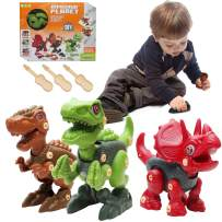 Tenhitoys Dinosaur Toys for Kids 3-5 Year Old Boys, Take Apart Dinosaur Toys for Kids 5-7, STEM Toys for 5 Year Old Boys, 3 Years Old Girl Gifts, Building Boys Toys Age 6-8 as Birthday Gift