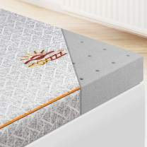 Maxzzz Mattress Topper Full, 2 Inch Memory Foam Bamboo Charcoal Mattress Topper, Bed Topper with Removable Soft Cover, Ventilated Design & CertiPUR-US Certified Foam Topper