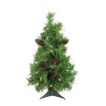 "Northlight 2' x 15"" Pre-Lit Dakota Red Pine Full Artificial Christmas Tree - Clear Lights"