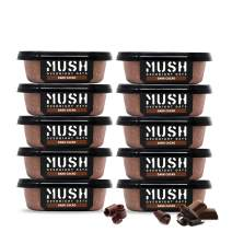 MUSH Overnight Oats Healthy Breakfast | Gluten-Free, Non-GMO, Dairy Free, High-Fiber, Protein Rich, No Added Sugar | 10 Pack Dark Chocolate Oatmeal Cups