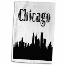 "3D Rose Chicago City Skyline Towel, 15"" x 22"""