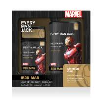 Every Man Jack Body Kit - Marvel Iron Man | 16.9-ounce Body Wash + 3-ounce Deodorant | Naturally Derived, Parabens-free, Pthalate-free, Dye-free, and Certified Cruelty Free