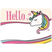 Avery Premium Rainbow Unicorn Name Tags, No Lift No Curl, 36 Handwriteable Name Stickers