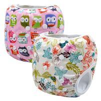 Storeofbaby 2pcs Baby Swim Diapers Leakproof Reusable Adjustable Pool Pants Unisex