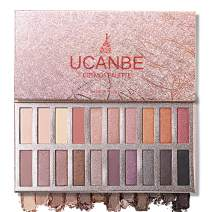 Ucanbe Pro Eyeshadow Palette Makeup, Highly Pigmented Matte Shimmer Neutral Smoky Nudes Warm Eye shadows Cosmetic (Naked)