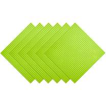 """BOROLA Classic Building Base Block Plate - 10"""" x 10"""" in Variety Color, Compatible Most Major Brands Building Bricks (6-Pack, Light Green)"""