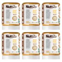 Nuttzo Organic Smooth Paleo Power Fuel Seven Nut and Seed Butter (Peanut Free), 12 Ounce (Pack of 6)