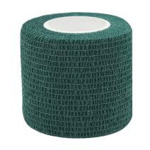 "COMOmed Self Adherent Cohesive Bandage FDA Approved 2""x5 Yards First Aid Bandages Stretch Sport Athletic Wrap Vet Tape for Wrist Ankle Sprain and Swelling,Dark Green(6 Rolls)"