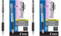 PILOT EasyTouch Refillable & Retractable Ballpoint Pens, Fine Point, Black Ink - 2 Pack of (24 Pens)