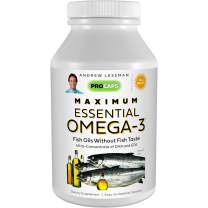 Andrew Lessman Maximum Essential Omega-3 Mint - 30 Softgels - Ultra-Pure, High Potency Omega-3 Oils. High DHA, No Stomach Upset, No Contaminants, No Mercury. Small Easy to Swallow Softgels