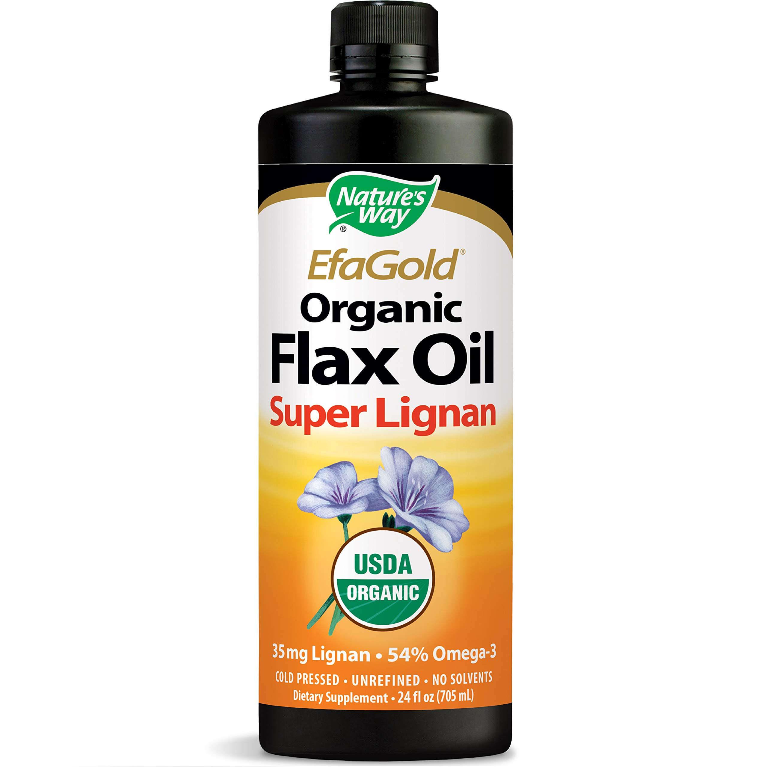 Nature's Way Organic Flax Oil Super Lignan 24 Ounce