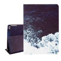 Hi Space iPad Air 9.7 Case Ocean,Sea Wave iPad Air 1/2 5th/6th Gen 2017 2018 Folio Stand Tablet Smart Case Cover with Auto Sleep Wakeup Function