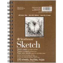 """Strathmore 455-8 Strath Sketch S 400 5.5X8.5100SHT60LB, 5.5"""" x 8.5"""", White 100 Sheets"""