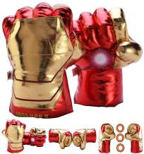 FAIRZOO Superheros Gauntlet Smash Hands Fists Big Soft Plush Kid Boxing Training Gloves Pair Halloween Costume