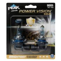 PEAK Power Vision Gold Automotive Performance Headlamp, 9005 HB3, 2 Pack