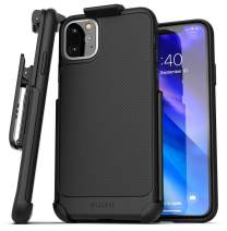 Encased iPhone 11 Pro Max Belt Clip Case (Thin Armor) Slim Grip Cover with Holster - Black