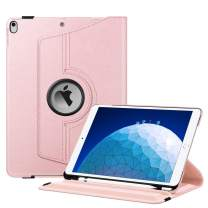 """Fintie Rotating Case for iPad Air (3rd Gen) 10.5"""" 2019 / iPad Pro 10.5"""" 2017-360 Degree Rotating Stand Protective Cover with Built-in Pencil Holder, Auto Sleep/Wake (Rose Gold)"""
