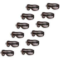 AmazonBasics Safety Goggle, Anti-Fog, Smoke Lens and Elastic Headband, 12-Count