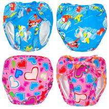 MooMoo Baby Swim Diapers 2pcs Adjustable and Reusable Swimpants for Baby, 0-3Y, 10-50 lbs Swimmers