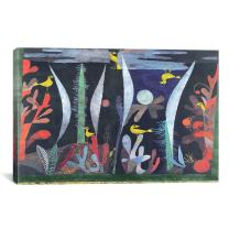 iCanvasART 1839 Landscape with Yellow Birds Canvas Print by Paul Klee, 40 by 26-Inch, 1.5-Inch Deep