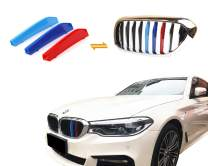 Jackey Awesome Exact Fit ///M-Colored Grille Insert Trims for 2018-2020 BMW G30 G31 G38 5 Series 525i 530i 540i 550i with M-Performance Black Kidney Grill (for BMW 2018-2020 5 Series,9 Beams)