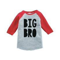 7 ate 9 Apparel Boy's Big Brother Red Baseball Tee