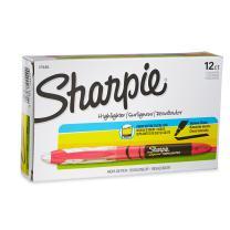 Sharpie 1754464 Accent Sharpie Pen-Style Highlighter, Fluorescent Pink, 12-Pack