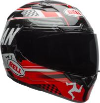 Bell Qualifier DLX Full-Face Motorcycle Helmet (Isle Of Man Black/Red, XX-Large)