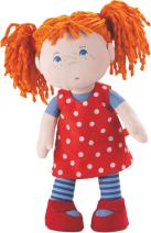 """HABA Little Scamp Mette 12"""" Soft Doll with Red Hair and Blue Eyes"""