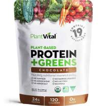 New! Plant Based Chocolate Protein Powder w 19 Superfoods, Veggies & Probiotics. Raw Cocoa, Kale, Beets, Spirulina & More! Vegan, Organic, Non-GMO, Gluten Free.