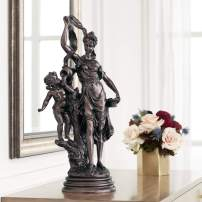 "Kensington Hill Maiden and Cupid 27"" High Accent Sculpture"