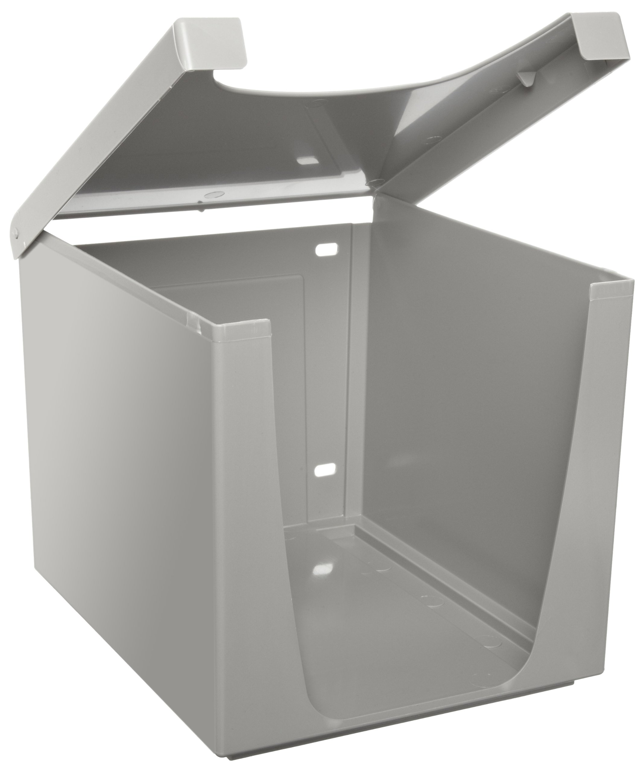 Quarterfold Wiper Dispenser for Wypall and Kimtech Wipes (09107), Countertop or Bench Top Unit, Grey, 6 Dispensers/Case