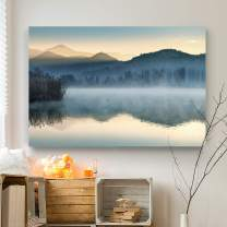 Renditions Gallery Landscape Pictures Artwork Giclee Print Canvas Art Ready to Hang for Home Wall Decor, 12x18, Quiet Morning