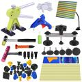 Super PDR 43Pcs Automotive Body Dent Repair Tools Kit Puller Green Dent Lifter with Yellow Tools Bag