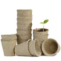 Floro Seed Starter Peat Pots Kit, 4x4 Inches, Biodegradable Seedling Planters, Reduces Plant Transplant Shock, Encourages Germination in Flowers, Fruits, Vegetables, Herbs and More, 15 Pack