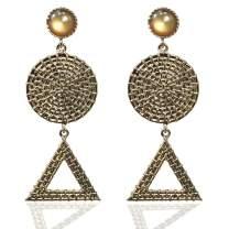 Gold Party Earrings Bohemian Vintage Ethnic Chandelier Big Statement Dangle Drop Earrings for Women