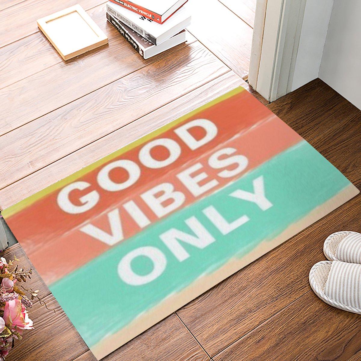 "CHARMHOME Good Vibes Only Custom Doormat Door Mat Machine Washable Rug Non Slip Mats Bathroom Kitchen Decor Area Rug(31.5"" X 20"",L X W)"